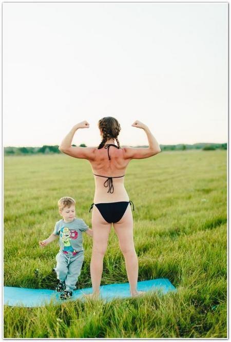 Анна Денисова з сином