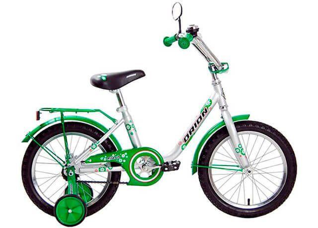 Дитячий двоколісний велосипед з додатковими колесами Orion Flash