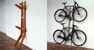 Настінні підставка для зберігання велосипеда в квартирі
