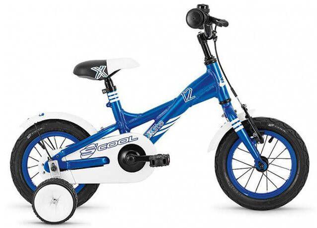 Дитячий двоколісний велосипед з додатковими коліщатками Scool XXlite 16