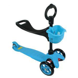 дитячий триколісний самокат eco line saddler