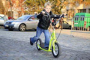 Дитячий самокат з великими надувними колесами 200 мм