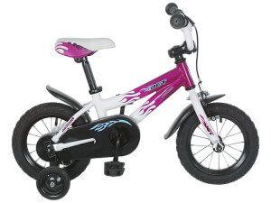 дитячий двоколісний велосипед author jet з додатковими колесами