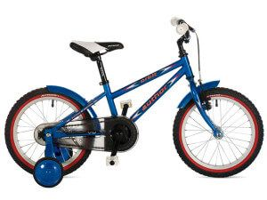 дитячий двоколісний велосипед author orbit з додатковими колесами