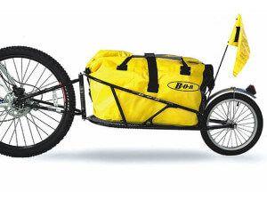 одноколісний туристичний велотрейлер