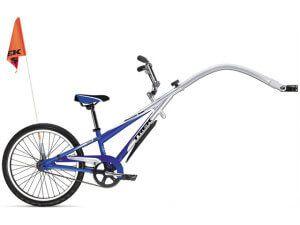 дитячий тандемний одноколісний велоприцеп ранебаут