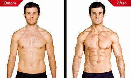 До і після застосування протеїнів Syntha-6
