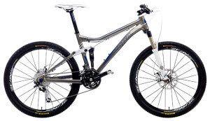 гірський велосипед типу двухподвес для крос-кантрі або тріалу