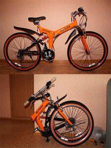 складаний гірський велосипед для перевезення в машині або громадському транспорті