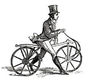 самокат - двоколісний засіб пересування з кермом і сидінням Карла Дреза