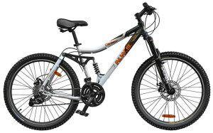 двухподвесний велосипед для міської їзди і катання за межами міста
