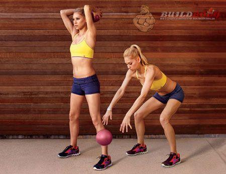 Комплекс вправ з м`ячем (вправа 2)