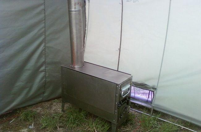 палатка лазня з пічкою