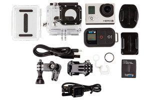 комплектація стрілялки камери GoPro Hero 3