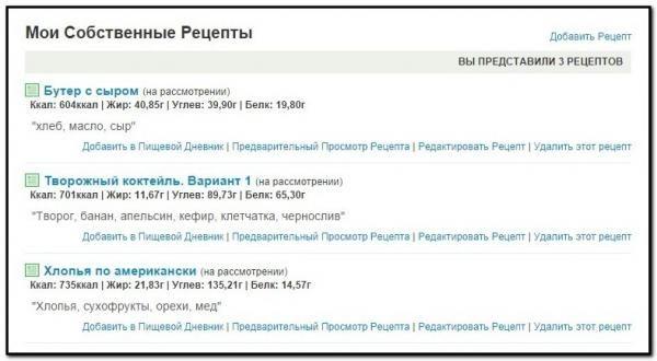 онлайн-сервіс КБЖУ