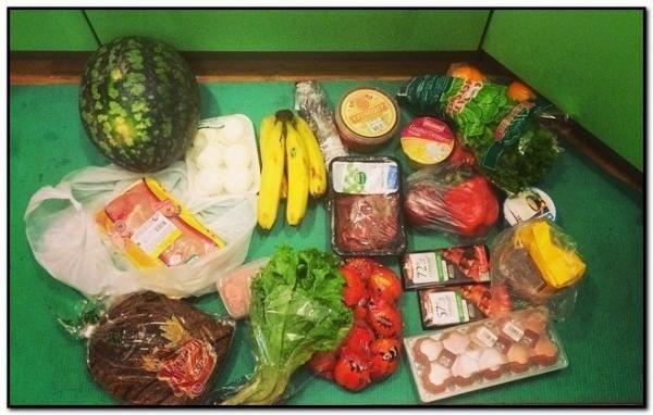 продукти харчування з супермаркету