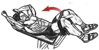 Зворотні скручування в тренажері