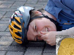 Велосипедний шолом захищає при падінні