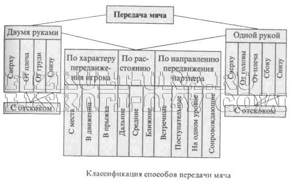 Класифікація способів передачі в баскетболі