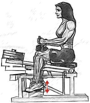 Підйоми на носки сидячи