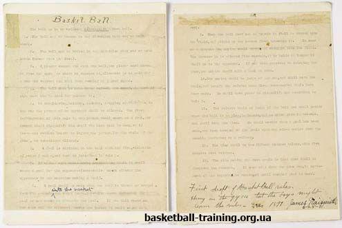 Правила баскетболу: перші правила гри в баскетбол