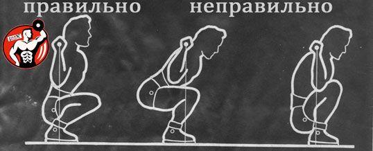 Техніка виконання присідань зі штангою