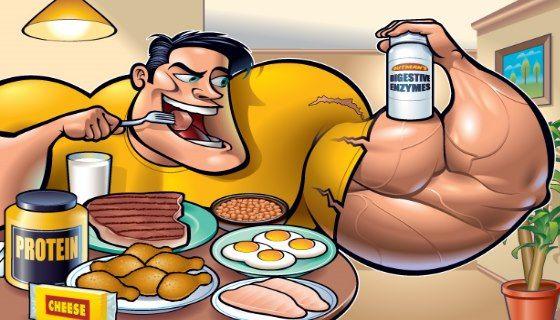 Раціональне харчування для побудови м`язової маси
