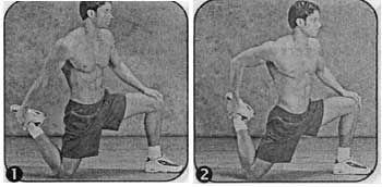 Комплекс для розвитку гнучкості чотириглавих м`язів (квадріцепсов) і згиначів стегон
