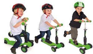 дитячий триколісний самокат glider seat 3 в 1