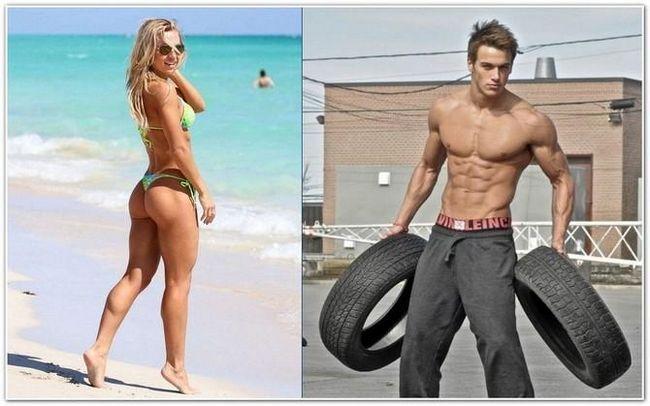 Жінка і чоловік у відмінній фізичній формі