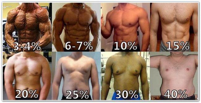 відсоток жиру у чоловіків