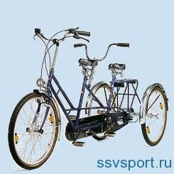 триколісний велосипед тандем