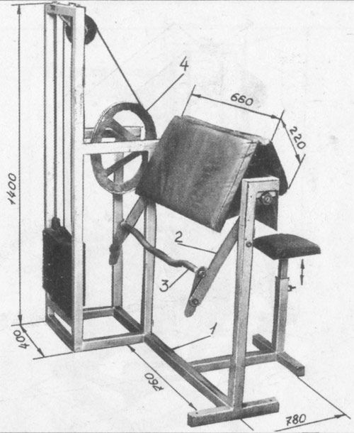 Тренажер для біцепса Біцепс машина _ trenager dla bicepsa biceps mashina