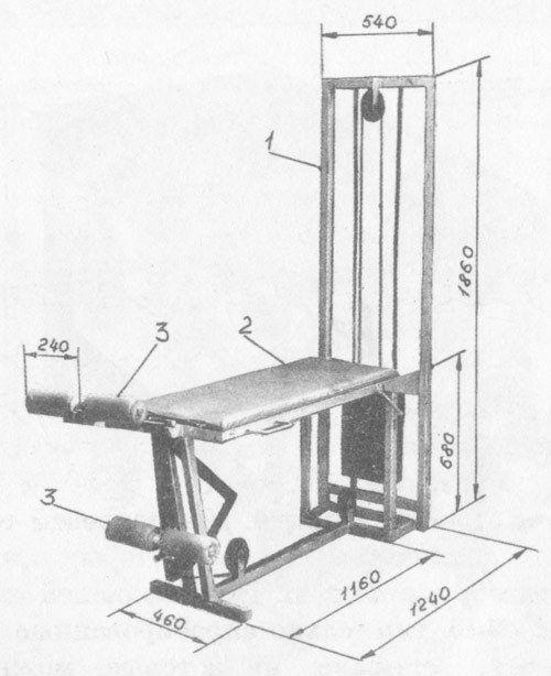 як зробити тренажер для ніг тренажер для м`язів ніг _ kak sdelat trenager dla nog