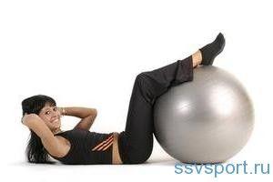 Тренажери для схуднення живота і боків - фітбол