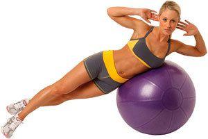 Вправи для преса з фітболом - ефективна тренування живота