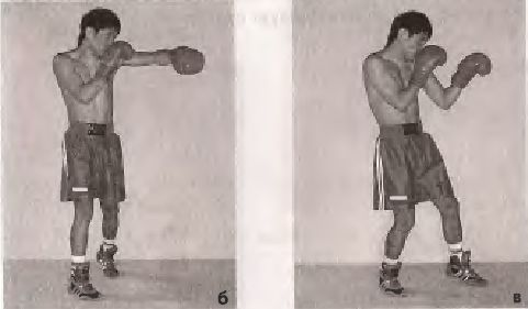 Бічний удар лівою рукою в голову з кроком вперед правою ногою