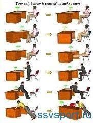 Зарядка в офісі - вправи