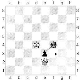 Шаховий ферзь проти пішака