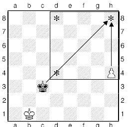 Урок двадцятого й третього. Правило квадрата шахової пішаки.