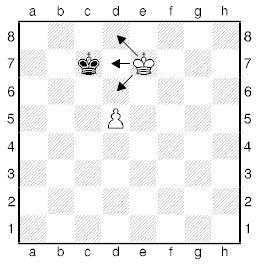 Шаховий паровоз - король з пішаком проти короля