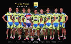 Склад команди Тінькофф-Сакс на Тур де Франс-2015.