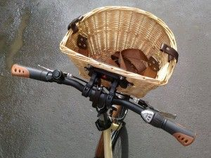 плетені велосипедна кошик