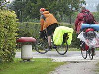 Велоштани на багажнику велосипеда