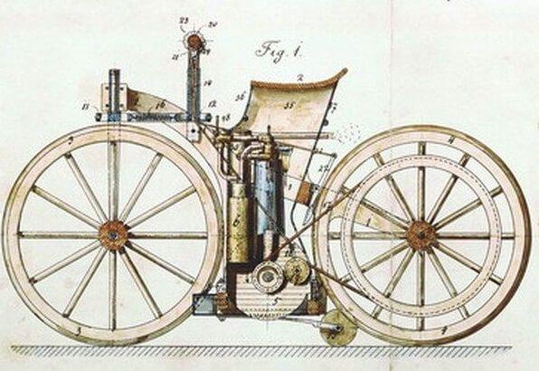велосипед з бензиновим мотором