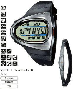Годинники з пульсомірів і тиском Casio CHR-200-1V