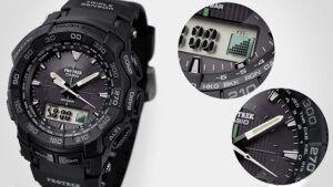 Годинники Casio PRG-550 з барометром і компасом