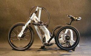 Дорослий триколісний складаний велосипед