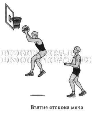Взяття відскоку від щита в баскетболі