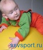 Заняття на фітболі для немовлят